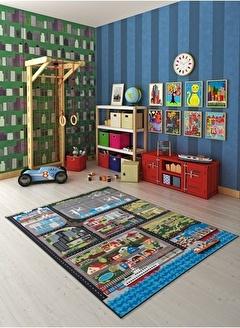 Confetti City Tour Anti Slip Çocuk Odası Anaokulu Oyun Halısı